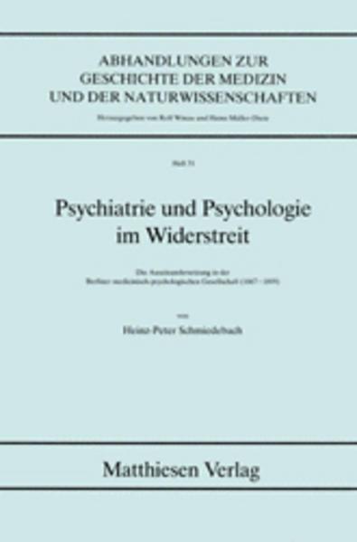 Psychiatrie und Psychologie im Widerstreit - Coverbild
