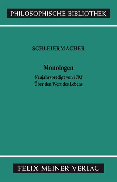 Monologen nebst den Vorarbeiten - Coverbild