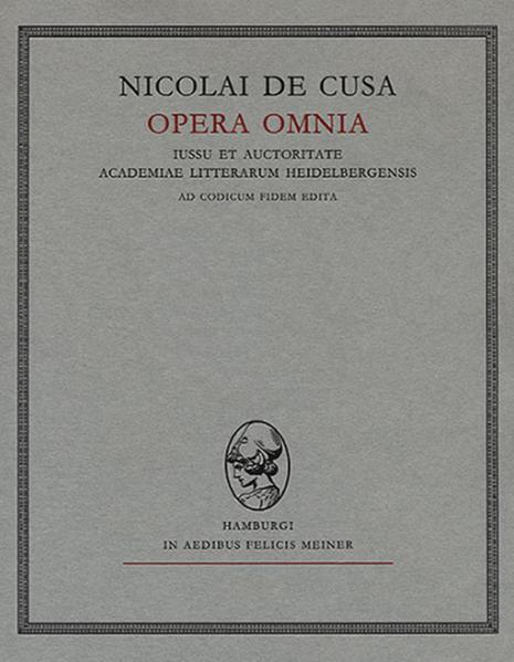 Nicolai de Cusa Opera omnia / Nicolai de Cusa Opera omnia - Coverbild