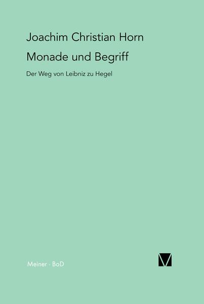 Monade und Begriff - Coverbild
