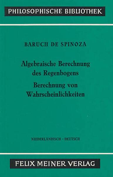 Sämtliche Werke / Algebraische Berechnung des Regenbogens. Berechnung von Wahrscheinlichkeiten - Coverbild