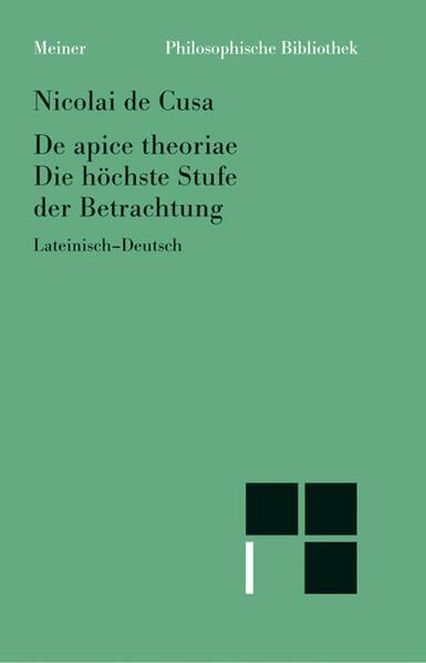Schriften in deutscher Übersetzung / Die höchste Stufe der Betrachtung - Coverbild