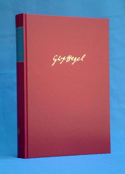 Gesammelte Werke / Vorlesungsmanuskripte I (1817-1831) - Coverbild
