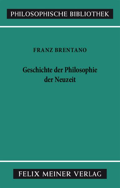 Geschichte der Philosophie der Neuzeit - Coverbild