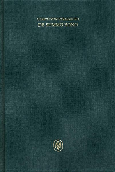 De summo bono. Kritische lateinische Edition / De summo bono. Kritische lateinische Edition - Coverbild