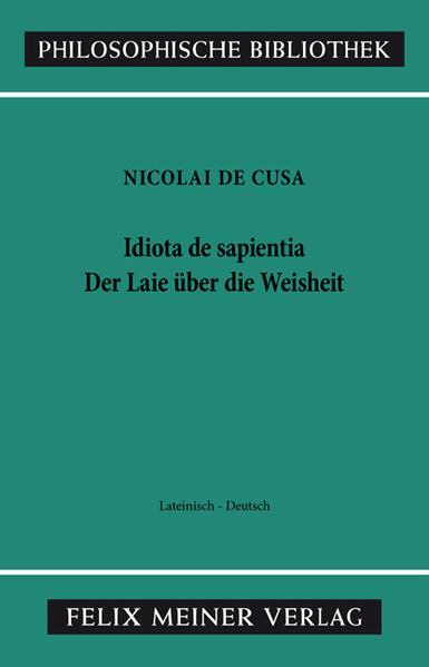 Schriften in deutscher Übersetzung / Der Laie über die Weisheit - Coverbild
