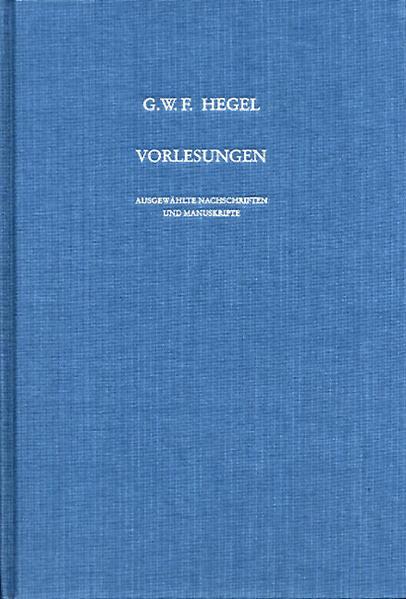 Vorlesungen. Ausgewählte Nachschriften und Manuskripte / Vorlesungen über die Geschichte der Philosophie - Coverbild