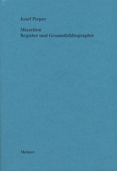 Werke / Miszellen. Register und Gesamtbibliographie - Coverbild
