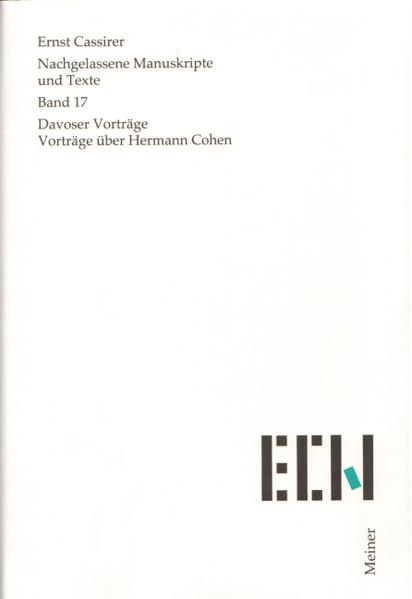 Nachgelassene Manuskripte und Texte / Davoser Vorträge. Vorträge über Hermann Cohen - Coverbild
