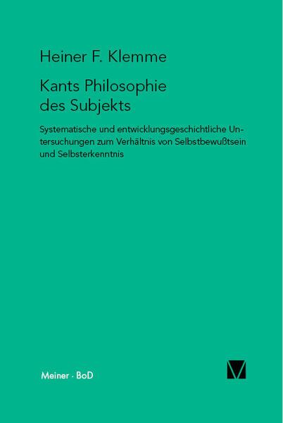 Kants Philosophie des Subjekts - Coverbild