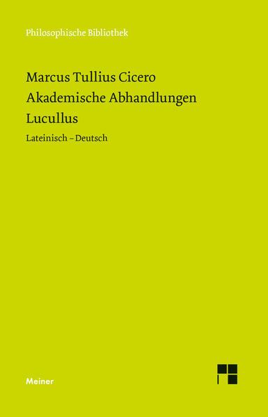 Akademische Abhandlungen. Lucullus - Coverbild