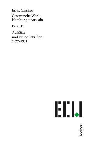 Gesammelte Werke. Hamburger Ausgabe / Aufsätze und kleine Schriften 1927-1931 - Coverbild
