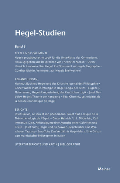 Hegel-Studien / Hegel-Studien - Coverbild