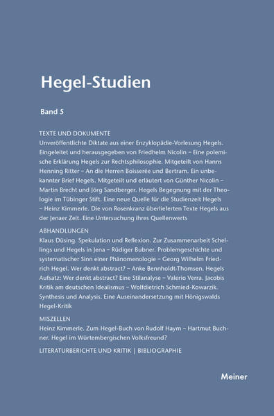 Hegel-Studien / Hegel-Studien Band 5 (1969) - Coverbild