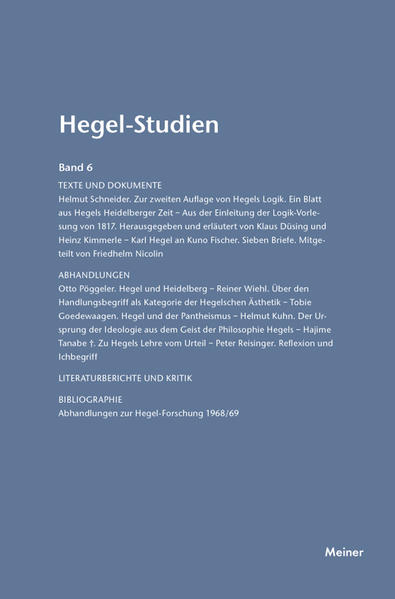 Hegel-Studien / Hegel-Studien Band 6 (1971) - Coverbild