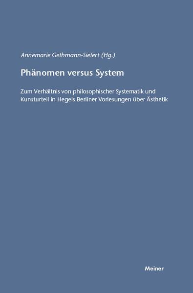 Phänomen versus System - Coverbild