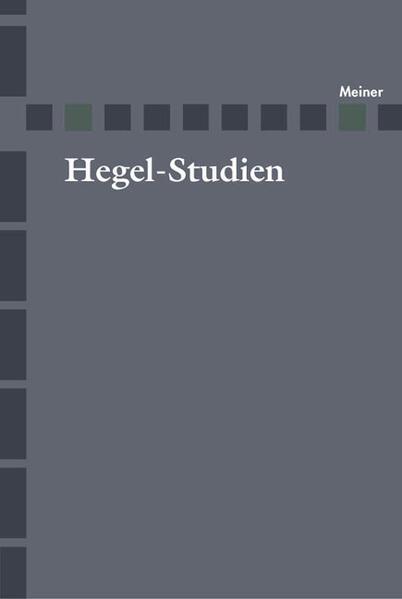 Hegel-Studien / Hegel-Studien - Coverbild