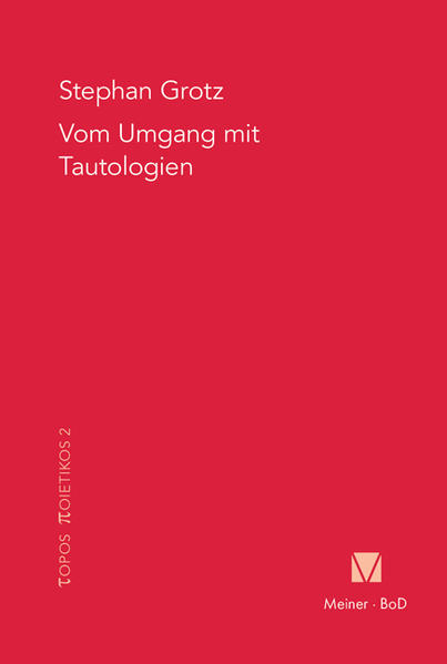 Vom Umgang mit Tautologien - Coverbild