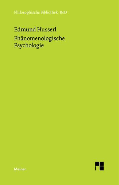 Phänomenologische Psychologie - Coverbild