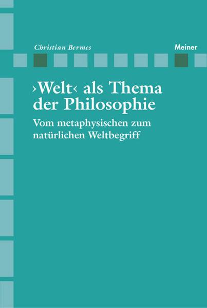 >Welt< als Thema der Philosophie - Coverbild