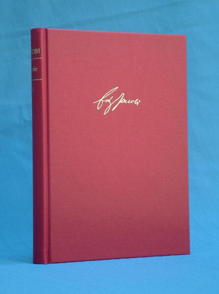 Werke / Kleine Schriften II (1786-1819). Anhang - Coverbild