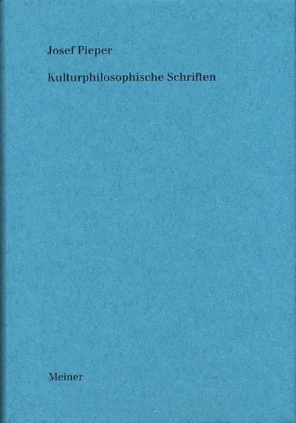 Werke / Kulturphilosophische Schriften - Coverbild