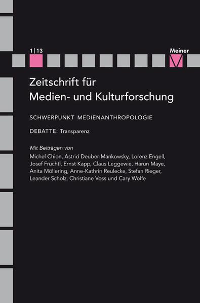 Medienanthropologie - Coverbild