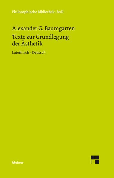 Texte zur Grundlegung der Ästhetik Epub Herunterladen