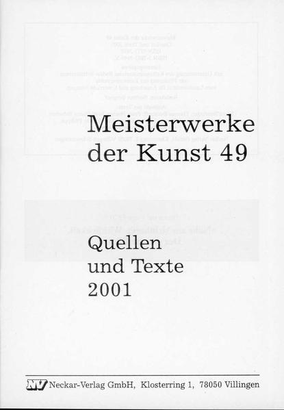 Meisterwerke der Kunst / Quellen und Texte - Coverbild