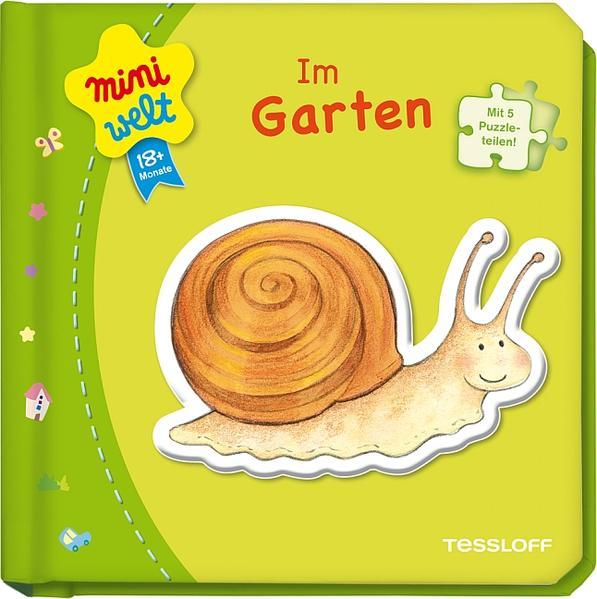 Kleines Puzzlebuch: Im Garten - Coverbild