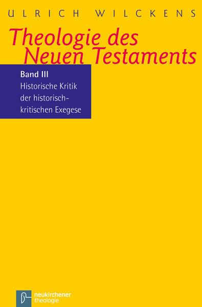 Theologie des Neuen Testaments - Coverbild