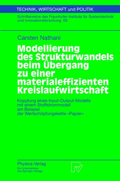 Modellierung des Strukturwandels beim Übergang zu einer materialeffizienten Kreislaufwirtschaft - Coverbild