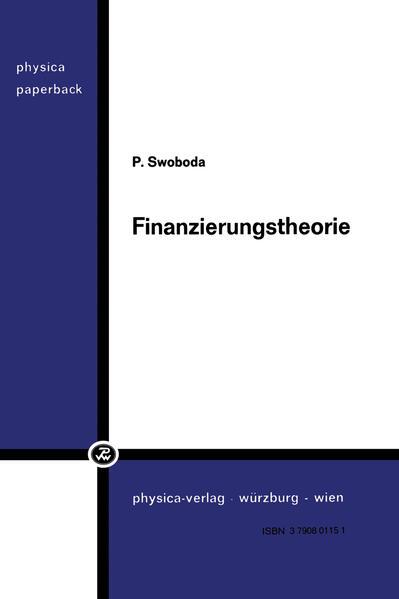 Finanzierungstheorie - Coverbild