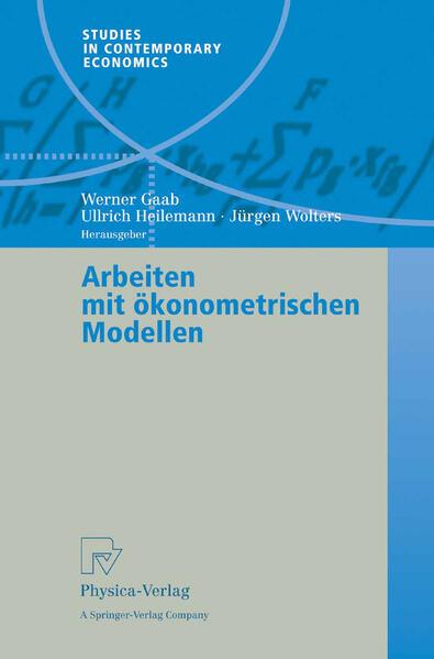 Arbeiten mit ökonometrischen Modellen - Coverbild