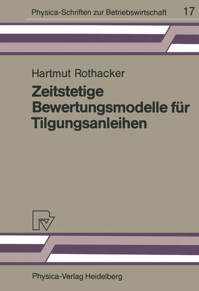 Zeitstetige Bewertungsmodelle für Tilgungsanleihen - Coverbild