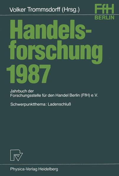 Handelsforschung 1987 - Coverbild