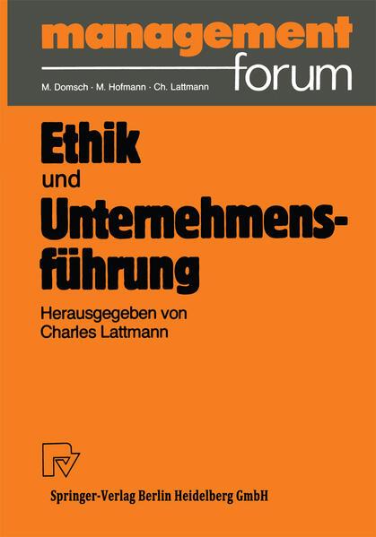Ethik und Unternehmensführung - Coverbild