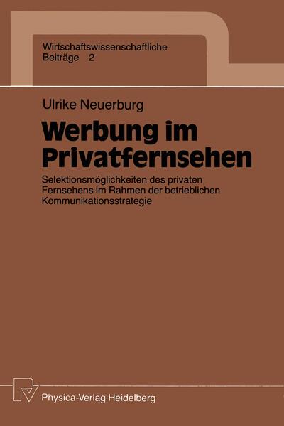 Werbung im Privatfernsehen - Coverbild