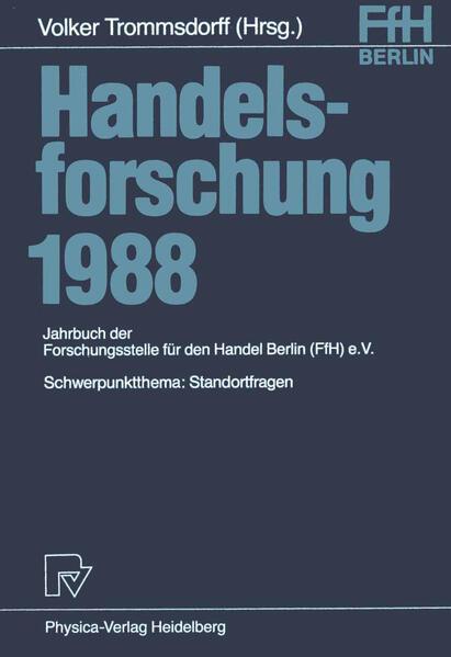 Handelsforschung 1988 - Coverbild