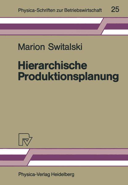 Hierarchische Produktionsplanung - Coverbild