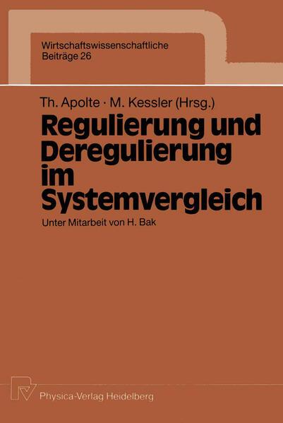 Regulierung und Deregulierung im Systemvergleich - Coverbild
