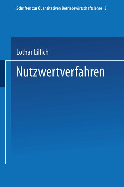 Nutzwertverfahren - Coverbild