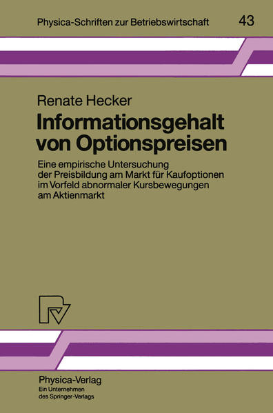 Informationsgehalt von Optionspreisen - Coverbild