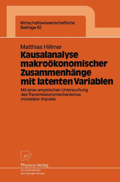 Kausalanalyse makroökonomischer Zusammenhänge mit latenten Variablen - Coverbild