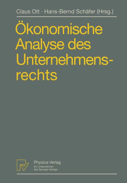 Ökonomische Analyse des Unternehmensrechts - Coverbild