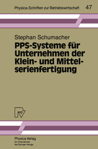 PPS-Systeme für Unternehmen der Klein- und Mittelserienfertigung - Coverbild