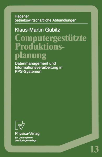 Computergestützte Produktionsplanung - Coverbild