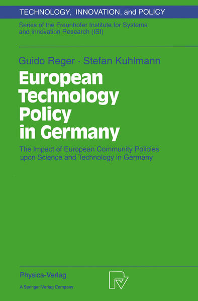 European Technology Policy in Germany - Coverbild