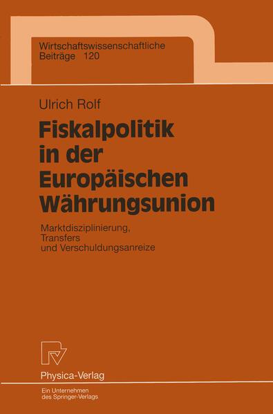 Fiskalpolitik in der Europäischen Währungsunion - Coverbild