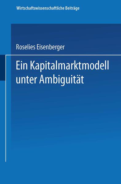 Ein Kapitalmarktmodell unter Ambiguität - Coverbild
